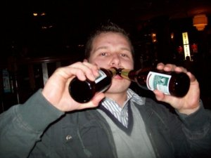 Me being a drunk mess in 2009 and not looking good.