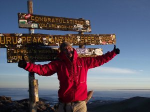 Me on the roof of Africa, Kilimanjaro summit 12/8/2011